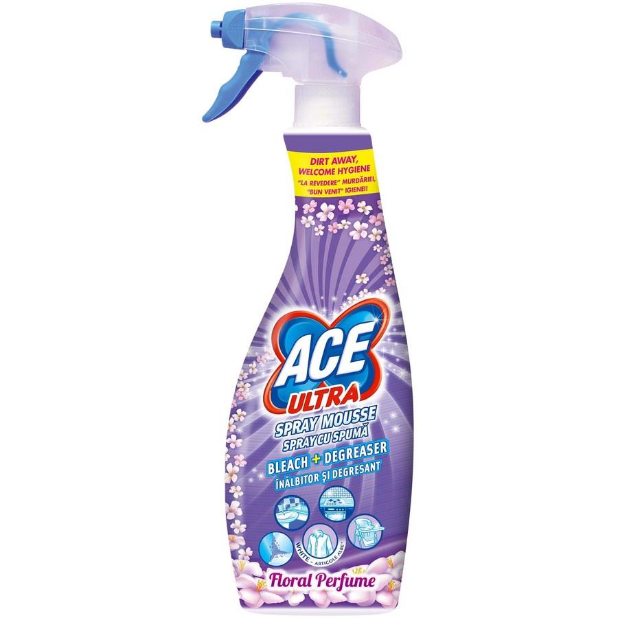 Spray cu spuma inalbitor si degresant Ultra Floral 700ml