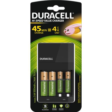 Incarcator acumulator Duracell CEF14 + 2 x acumulatori AAK2 1300mAh + 2 x acumulatori AAAK2 750mAh