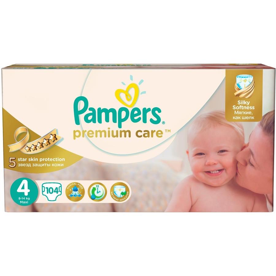 Scutece Premium Care 4 Mega Box 104 buc