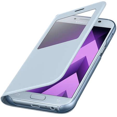 Husa Flip Cover EF-CA520PLEGWW S View Albastru pentru SAMSUNG Galaxy A5 2017