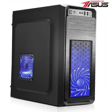 Sistem desktop Powered by ASUS Starter Intel Celeron G1840 Dual Core 2.8 GHz Placa video HD Graphics 4GB DDR3 1600 MHz HDD 500 GB  Free DOS Black