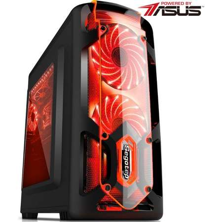 Sistem desktop Powered by ASUS Redlight Intel Pentium G4600 Dual Core 3.6GHz ASUS nVidia GeForce GTX 1050 Expedition 2GB DDR5 8GB DDR4 2133 MHz HDD 500GB Free DOS Black
