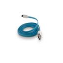 microUSB silicon albastru