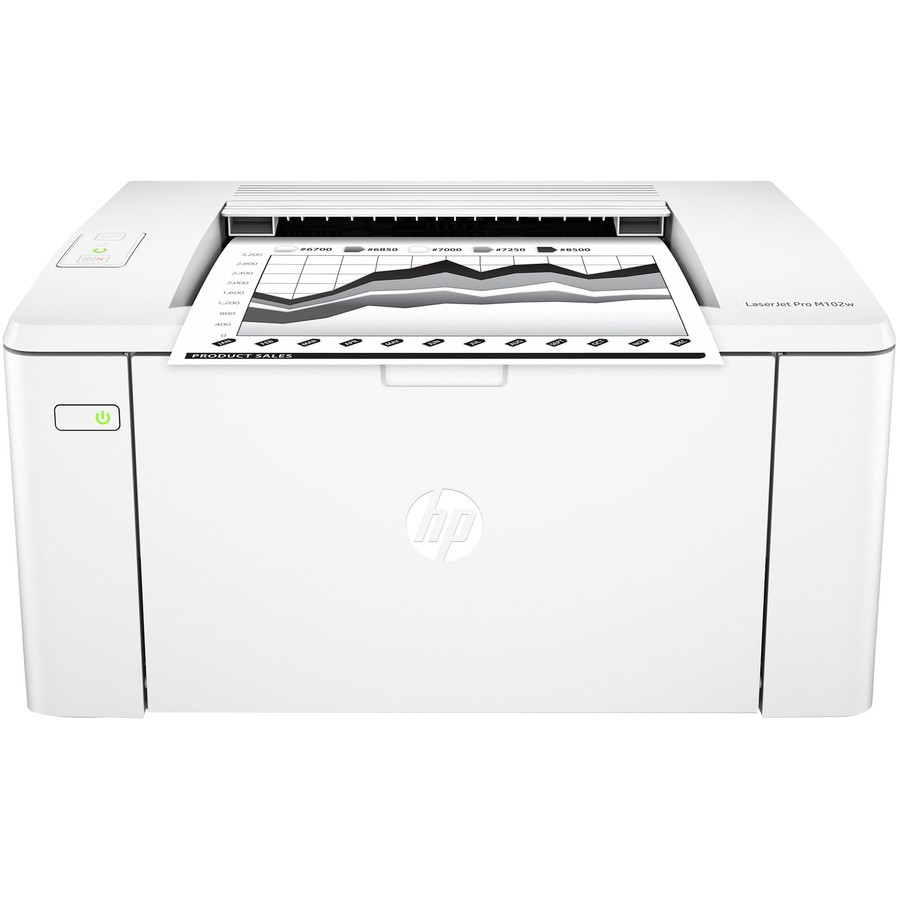 Imprimanta laser alb-negru LaserJet Pro M102w Laser Format A4 Wi-Fi White thumbnail