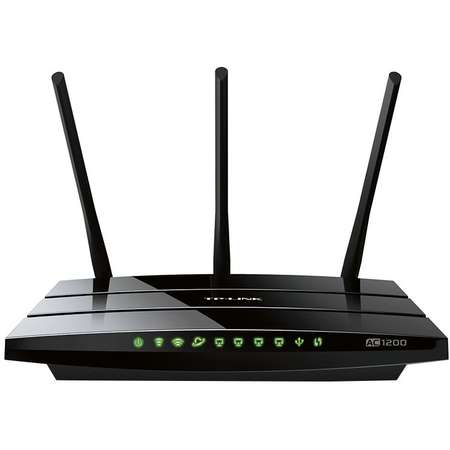 Router wireless TP-Link ARCHER C1200 Dual band 2.4 / 5 GHz 4 x 10/100/1000 Mbps 3 Antene Negru