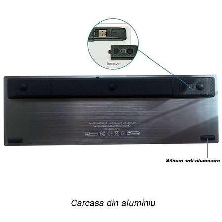 Tastatura Smart TV Rii tek i12+ multimedia wireless cu touchpad 7 inch