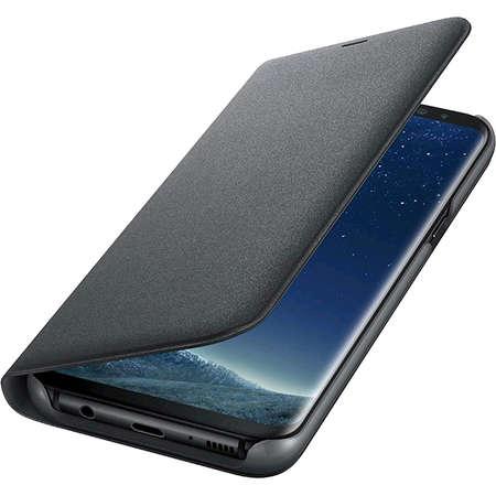 Husa Flip Cover EF-NG955PBEGWW Led View Negru pentru SAMSUNG Galaxy S8 Plus