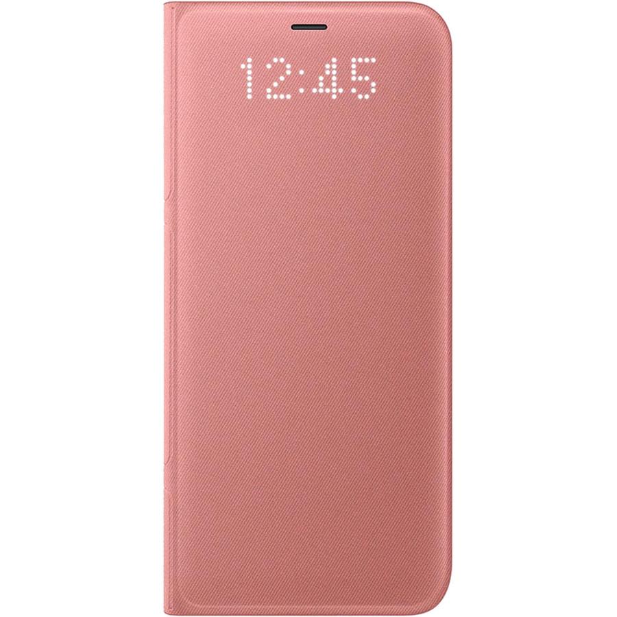 Husa Flip Cover Ef-ng955ppegww Led View Roz Pentru Samsung Galaxy S8 Plus