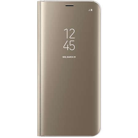 Husa Flip Cover EF-ZG955CFEGWW Clear View Auriu pentru SAMSUNG Galaxy S8 Plus