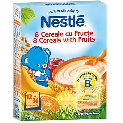 Cereale copii Junior 8 cereale cu fructe 250g de la 12 luni thumbnail