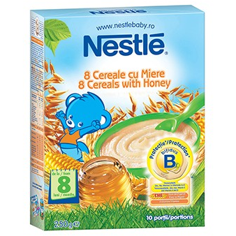 Cereale copii NESTLE 8 cereale cu miere 250g de la 8 luni
