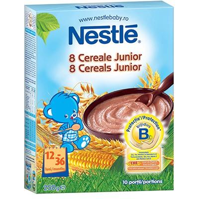 Cereale copii NESTLE Junior 8 cereale 250g de la 12 luni
