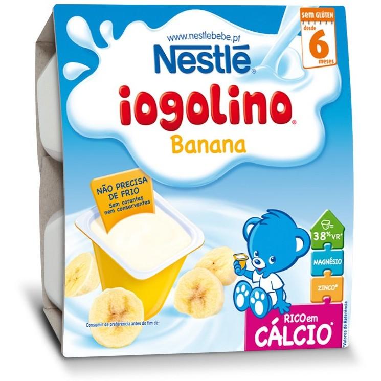 Cereale copii Baby Iogolino cereale si banane 4x 100g de la 6 luni thumbnail
