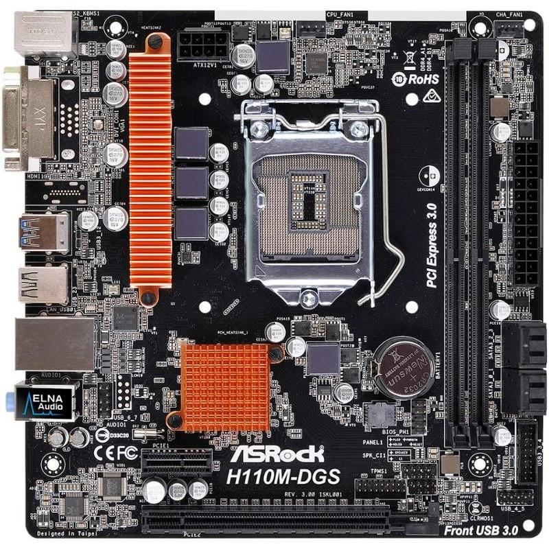 Placa de baza H110M-DGS R3.0 Intel LGA1151 mATX thumbnail