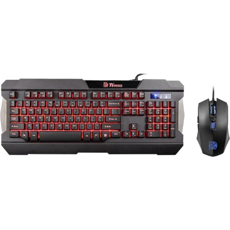 Kit tastatura si mouse Gaming Tt eSPORTS Commander Gaming Gear Combo Multi Light thumbnail