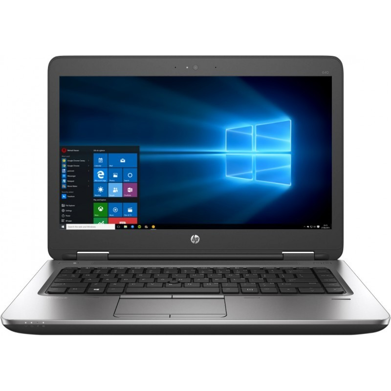 Laptop ProBook 640 G3 14 inch Full HD Intel Core i7-7600U 8GB DDR4 256GB SSD FPR Windows 10 Pro Black thumbnail