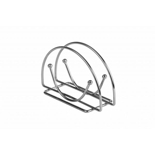 Suport metalic pentru servetele 15 x 8 x 4 cm otel cromat