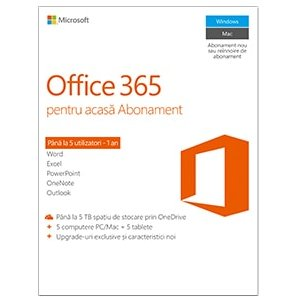 Office 365 Home Premium 5 PC 1 AN All Languages (Licenta Electronica)