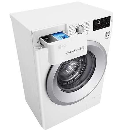 Masina de spalat rufe LG F2J5WN4W 1200RPM 6.5Kg A+++  Slim Alb/Albastru