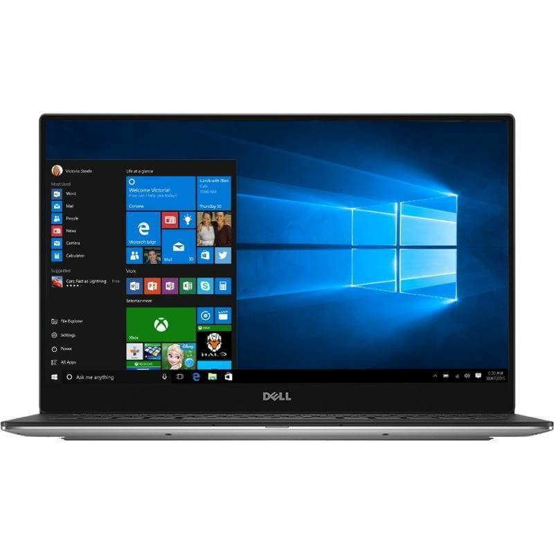 Laptop XPS 13 9360 13.3 inch Full HD Intel Core i7-7500U 8GB DDR3 256GB SSD FPR Windows 10 Pro Silver thumbnail