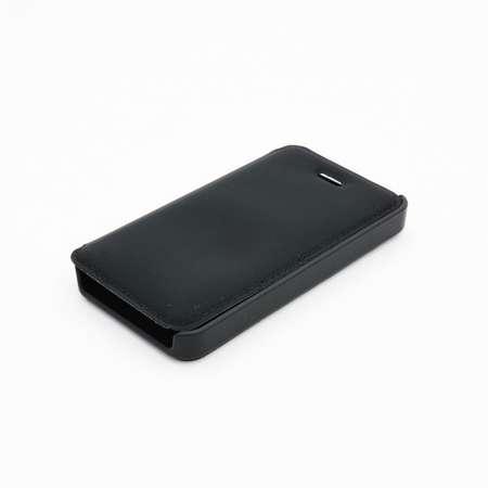 Husa Tellur Folio pentru Iphone 4/4S Material Seta Black