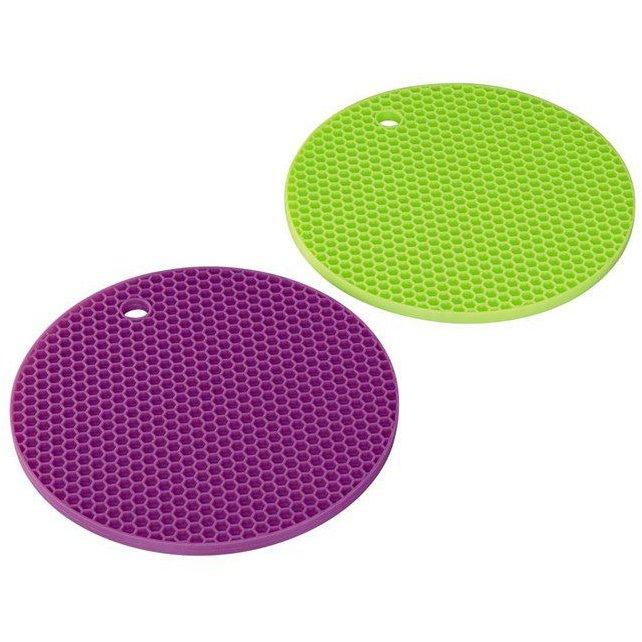Suport silicon oale 2 bucati  verde / mov