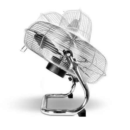 Ventilator de podea Taurus Sirocco 18 120W 50cm diametru 3 viteze Inox