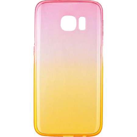 Capac de protectie Tellur pentru Samsung Galaxy S7 Silicon Pink&Orange