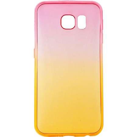 Capac de protectie Tellur pentru Samsung Galaxy S6 Silicon Pink&Orange