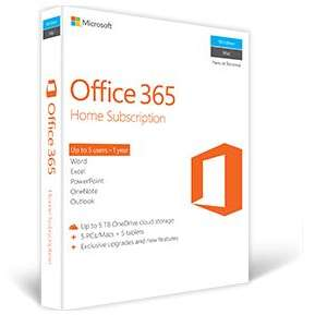 Office 365 Home Microsoft 32 64 biti Engleza Subscriptie 1 an  5 utilizatori