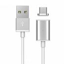 magnetic cu conector Micro USB 1m alb