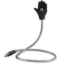 MicroUSB la USB plus suport telefon argintiu