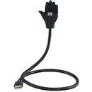 USB Tip C la USB plus suport telefon negru