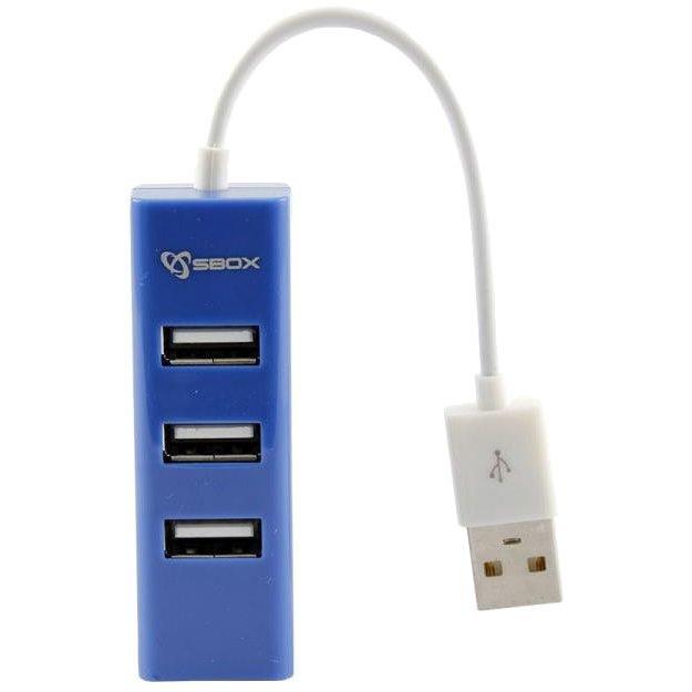 Hub USB H-204BL 4 porturi USB 2.0 Albastru thumbnail