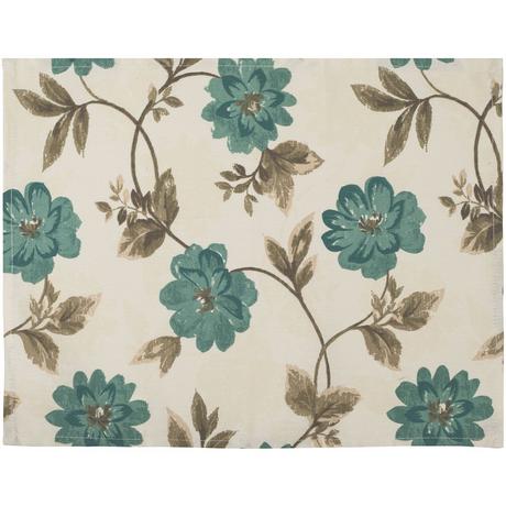 Suport pentru farfurie Home Flori Albastre 35 x 45 cm bumbac
