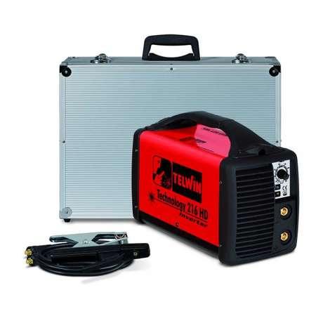 Aparat de sudura Telwin TECHNOLOGY 216HD 230V ACX+ALU C.CASE Rosu