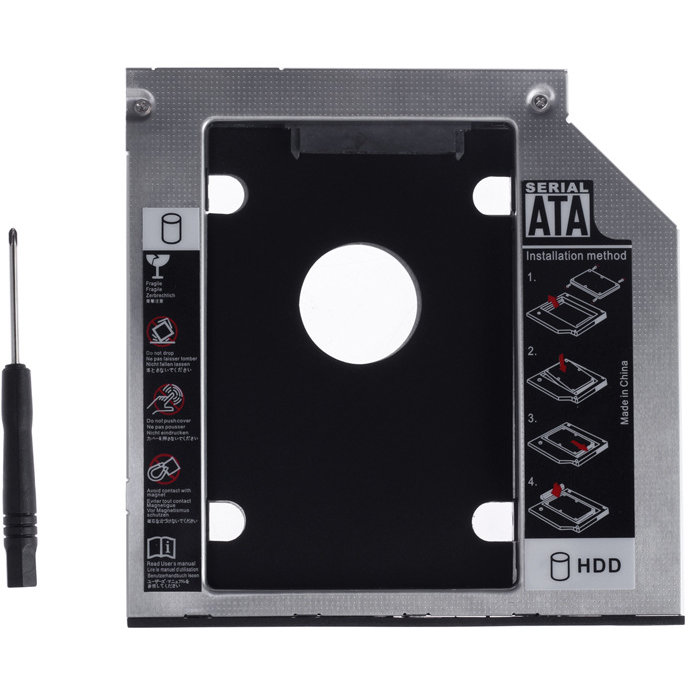 Adaptor HDD Caddy pentru HDD/SSD unitati optice 9.5 mm thumbnail