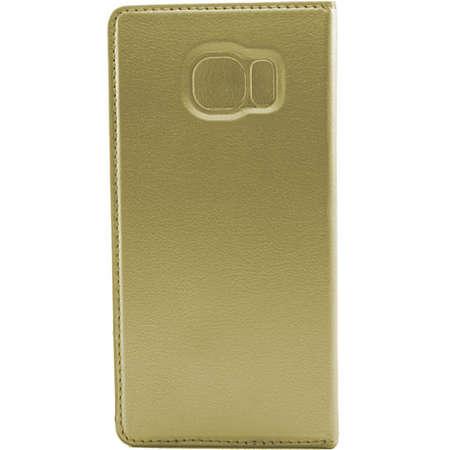 Husa Flip Cover FINE TECHNIX FTS7EF010GD Smart Stand Case Auriu pentru Samsung Galaxy S7 Edge
