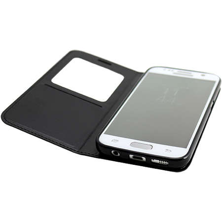Husa Flip Cover YUPPI LOVE TECH MIRFOLIOS7BK Folio Negru pentru Samsung Galaxy S7