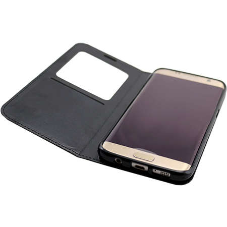 Husa Flip Cover YUPPI LOVE TECH MIRFOLIOS7EBK Folio Negru pentru Samsung Galaxy S7 Edge