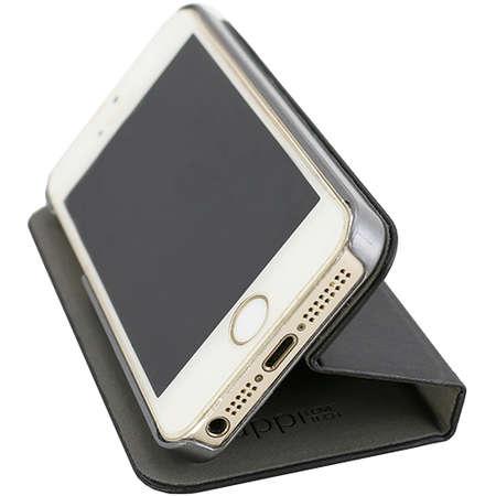 Husa Flip Cover YUPPI LOVE TECH MIRBOOKIP5BK Stand Negru pentru APPLE iPhone 5s, iPhone SE
