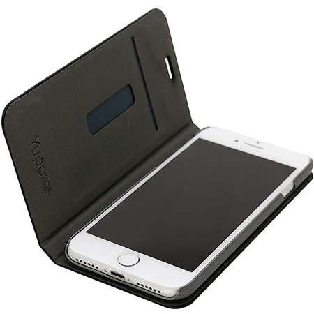Husa Flip Cover YUPPI LOVE TECH MIRBOOKIP7BK Stand Negru pentru Apple iPhone 7