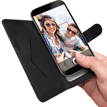 Husa Flip Cover ABC Tech UNIBOOKXXLBK Negru pentru ASUS Zenfone Selfie