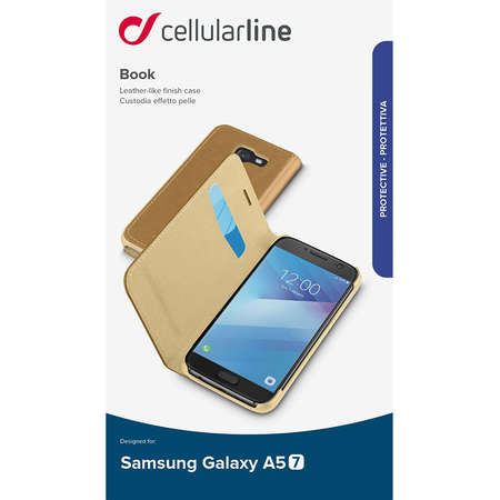 Husa Flip Cover Cellularline BOOKESSGALA517N Maro pentru SAMSUNG Galaxy A5 2017