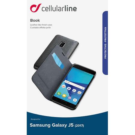 Husa Flip Cover Cellularline BOOKESSGALJ517K pentru SAMSUNG Galaxy J5 2017