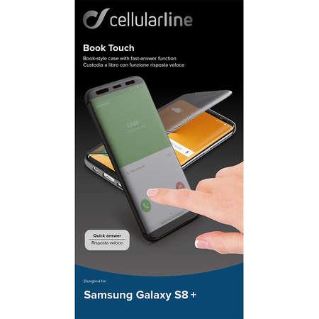 Husa Flip Cover Cellularline BOOKTOUCHGALS8PLKK pentru SAMSUNG Galaxy S8 Plus