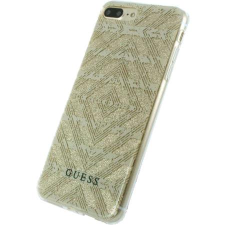 Husa Protectie Spate Guess GUHCP7LTGGBE Tribal 3D Effect Bej pentru Apple iPhone 7 Plus