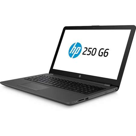 Laptop HP 250 G6 15.6 inch HD Intel Core i3-6006U 4GB DDR4 128GB SSD Windows 10 Pro Dark Ash Silver