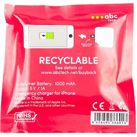 Bateria externa de urgenta ABC Tech Unica 1000 mAh pentru Apple iPhone