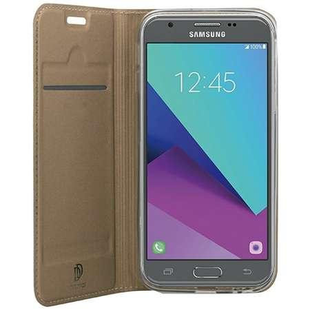 Husa Flip Cover Dux Ducis My-Skin pentru Samsung Galaxy J7/2017 EU Auriu